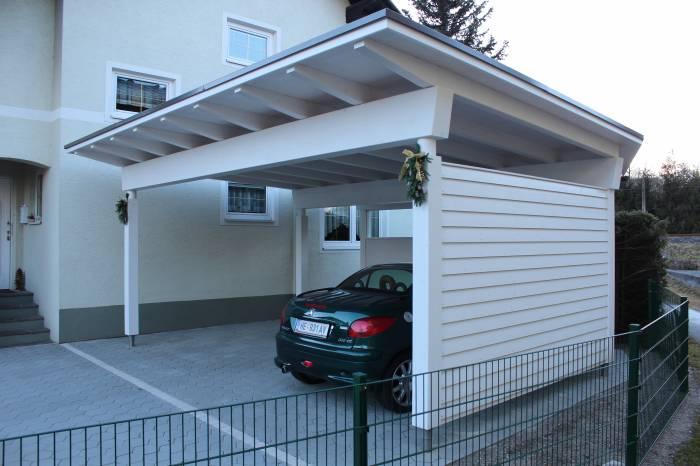 Holzbau pichler gundersheim carport